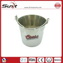 Tin ice bucket with handle/tin beer ice bucket
