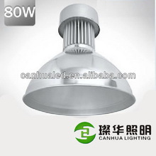 Fashion best sell good heat dissipation aluminum hanging led light high bay 80watts
