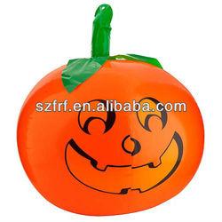 inflatable smile pumpkin display