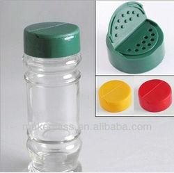 glass cruet with grinder cap/spice bottle/glass pepper salt cruet