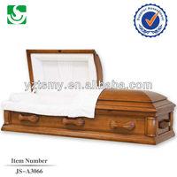 Exquisite American wooden handle plain casket interiors fabrics