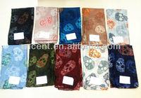 fashion skull polyester shawl scarf