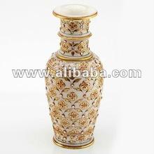 Flower Vase with Kundan Work
