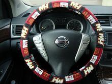 Handmade Steering Wheel Cover NBA Miami Heat Basketball