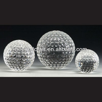 glass golf ball for engraving and laser
