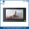 7 pulgadas lcd comercial reproductor de vídeo con pantalla táctil