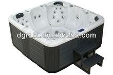 2013 Whirlpool bathtub Twin Massage bathtub for 2 people Material with CE/ISO/ETL