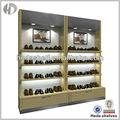 colgando de la pared al por menor de calzado estante de exhibición