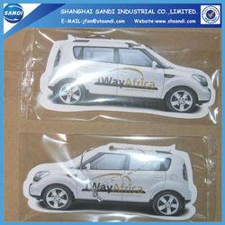 custom logo hanging paper car air freshener