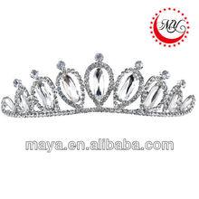 hot sale wholesale handmade cute girls resin rhinestones plastic party crown