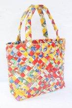 Woven Shopping Bag Wide Folding