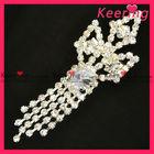 Clear meteor pearl necklace rhinestone brooch WBR-767