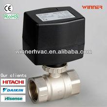 Hvac thermostat electric valve black actuator 220V dn15