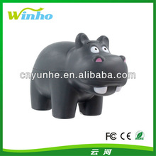 Customed Imprinted hRhinoceros pu foam sponge squeeze reliever anti stress ball