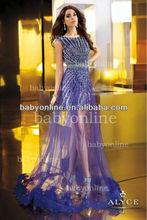 BO2391 Wholesale New Fashion Beadings Short Inside Long Outside Prom Dress Hot Style 2013