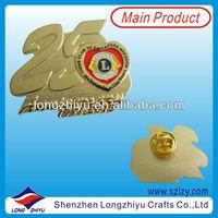 Custom Lions Club Stamping Metal Pin Badge Making Brass Lapel Pin