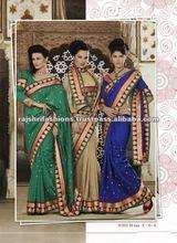 Traditional Desi Katan Silk Designer Sarees