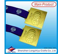 2013 Custom design metal commemorative gold medals awards trophy medal