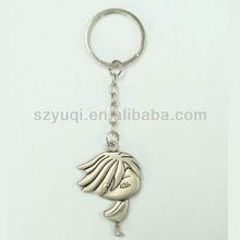 Beautiful princess key chain metal