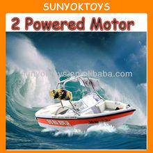 1:12 Speed Rc Boat; 2 Powered Motor Dual Propellers