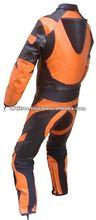 Speed Demon Kids Motorcycle Moto Full Leather Orange/Black Race Suit