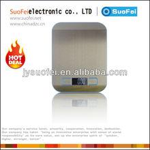 11lb x 0.05 oz Slim Digital Kitchen Scale Stainless Steel 5Kg x 1g Food / Postal