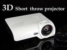 Factory supply 4000lumens overhead shutter 3D dlp projector,short throw real 3D dlp projector