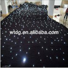 2013 good quality black velvet christams illumination/led star cloth good quality black velvet night club lighting/led star c
