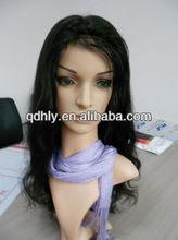 "wholesale 16"" natural color Peruvian virgin hair full lace wig"