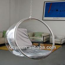 Ball hanging bubble acrylic chair /acrylic swing chair