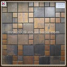 Antique Copper Mosaic Tile/ new design metal mosaic tile