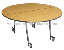 Youkexuan dining table with wheels