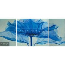 Handmade Modern Group rose Oil painting,soft blue blossom