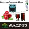 Usine de jus de fruits naturels, le jus 65«cranberry» brix, concentré de jus de canneberge