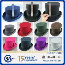 100% australia de fieltro de lana sombreros de copa baratos