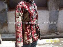 Indian Vintage Sari Kantha Womens Coat