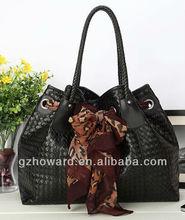 Export PU leather woman big handbag hot sale in Asia Guangzhou factory Y012