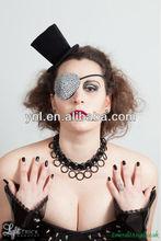 Rhinestone Eye Patch, Glam, Pirate, as worn by Model Velvet dAmour on the French Tv show la Ferme Celebrites en Afriq