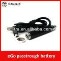 passthrough batterie ego 2013 mit usb aufladbare elektronische zigarette durchlaufen batterie