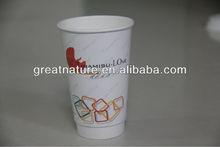 plain white paper coffee cups