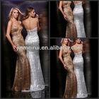 Attractive Sequin Dress Long Sweetheart Floor-length Satin Beaded Sheath She Fashions Prom Dresses