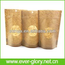 clear window moisture proof brown ziplock kraft paper bag packaging