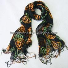 HD142--391 fashion viscose scarf rayon shawl