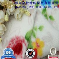 train printed fleece fabric