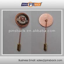 Customized Stick Hard Enamel Pins MOQ : 100pcs - Gold Plated