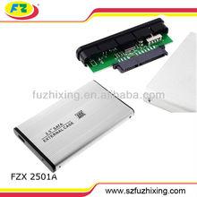 "Custom Aluminum Hdd Enclosure 2.5"" USB 2.0 SATA Hard Disk Drive HDD/HD Enclosure/Case"
