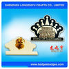 Metal custom gols plated crown Decorative Badge enamel Decorative Badge manufacturer