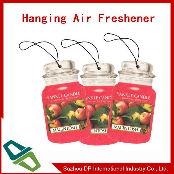 OEM design custom Paper Car Air Freshener for promotion