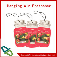 OEM design custom Paper Car Air Freshener for promotion