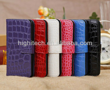 Crocodile High Quality PU Leather Stand Case w/Card Holders for Apple iPhone 5C